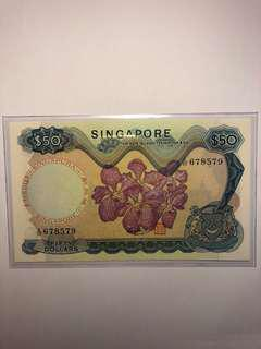 Singapore Orchid $50 HSS with seal A/32 678579 AU