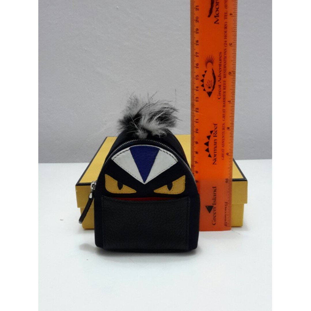100% authentic Fendi monster   bug mini backpack charm 16060bf221309