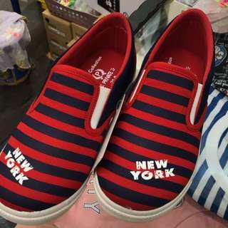 🚚 普萊米 黑紅條紋帆布鞋 零碼出清