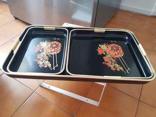 Japanese tray set