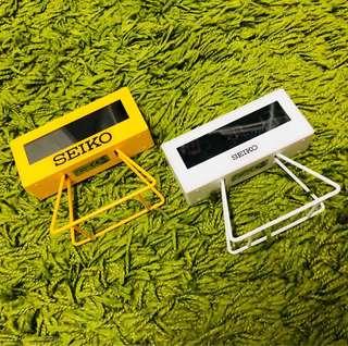 Seiko digital alarm clock QHL062Y QHL069W 跳字 電子 鐘 兩個不散賣