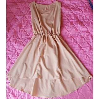 Peach Dress_Sleeveless