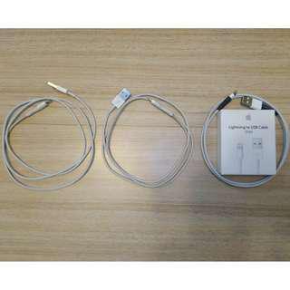 100% original Apple Lightning Cables (1M) (x3 units)