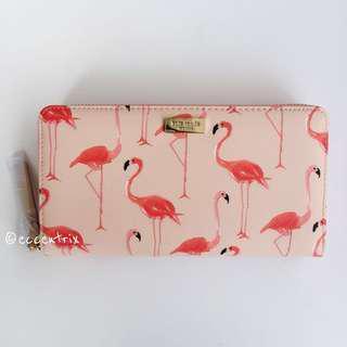 Kate Spade Flamingo Print Lacey Wallet