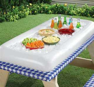 Inflatable salad plate, party ice tray 140×65cm