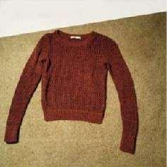 BNWOT Burgundy Red Knit Sweater XSMALL