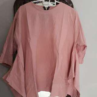 Atasan dusty pink