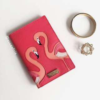 Kate Spade Walk On The Wild Side Flamingo Passport Holder