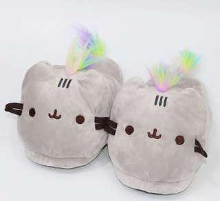 🚚 PO. Pusheen Plush Bedroom Slippers