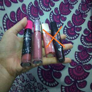 Lipstik lipcream wardah,pixy,