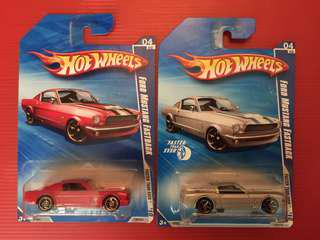 Hot wheels Ford Mustang 2 X