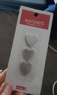 Kikki.k Magnets silver hearts / 3 packs