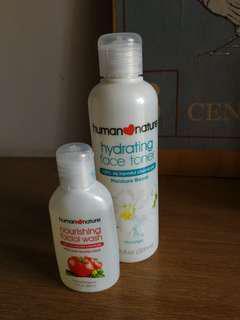 Human Nature Toner and Facial Wash Bundle