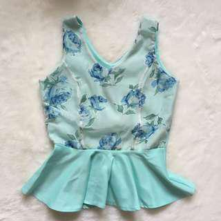 PRELOVED Tosca Peplum Top