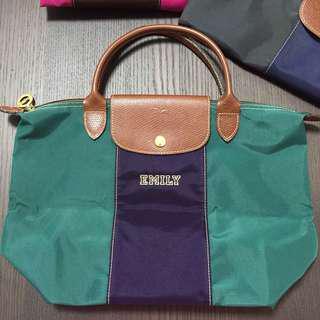 Longchamp Bag personalized green purple 自訂款式