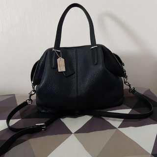 Coach black sling genuine leather