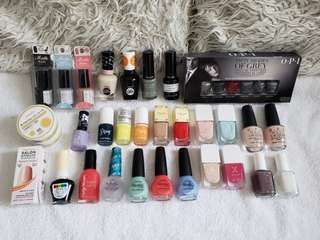 35 x Nail poliah and accessories!