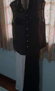 Emanuel Italy Set Dress + Sheer top