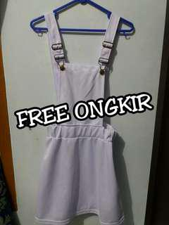 White Overall Body Skirt