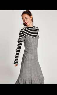 Zara checked maxi dress