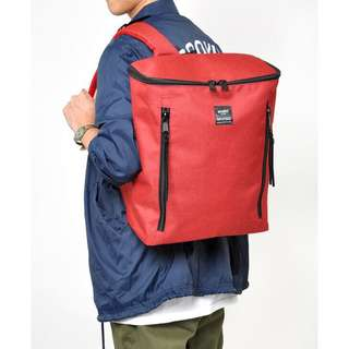 AUTHENTIC ORIGINAL Anello Backpack BLACK & Red color