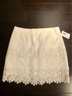 J crew skirt with lace detail