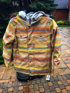 BRAND NEW Burton Boys' Uproar Jacket Beach Stripes