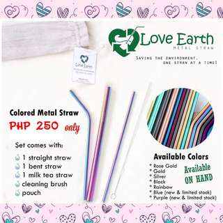 COLORED METAL STRAW