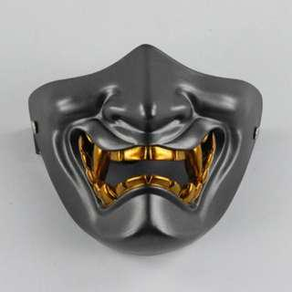 Japanese Culture Demon Oni Half Mask Fang