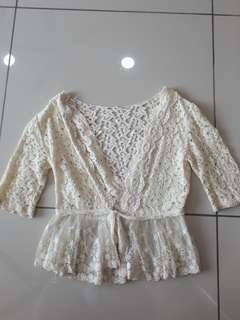 Lacey cute crop outer wear
