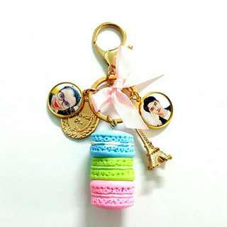 🚚 Customized macaron keychains bagcharms
