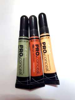 L.A GIRL HD PRO.Conceal corrector (Green, Orange, Yellow)