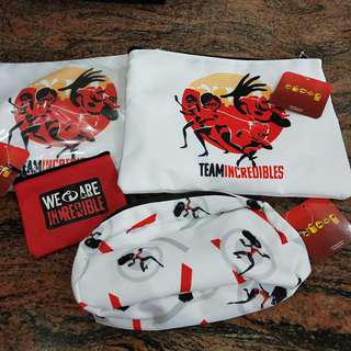 Team Incredibles pouches
