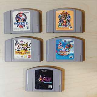 Nintendo 64 N64 Games set of 5