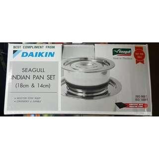 Seagull Indian Pan Set (18cm & 14cm)