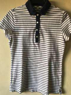Uniqlo Striped Polo Shirt, Fits M-L