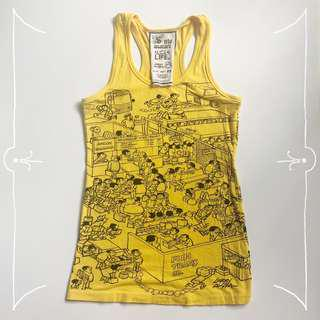 SOLO Yellow Tank Top designed by Larry Alcala