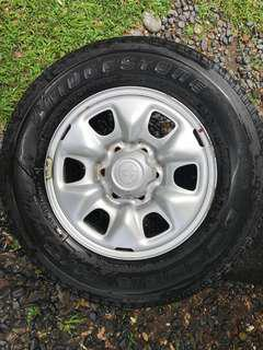 "16"" Toyota Hilux Stock Rims with Tires (4 pcs)"