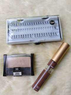 Bundle fashion 21 eyebrow gel + Maybelline eyeshadow + falsies