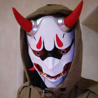 Custom Manufactured Overwatch Genji Bloodmoon Japanese Demon Devil Oni Payday 2 Mask