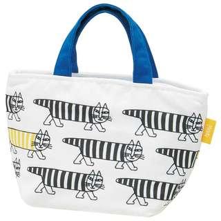 Lisa Larson Mikey 帆布棉質拉鍊 Lunch Bag 手提袋