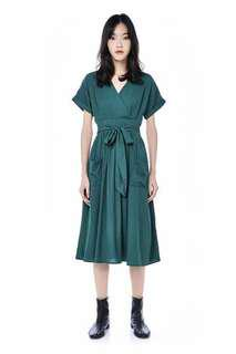 Editor's market SHELAINE CROSS-FRONT MIDI DRESS