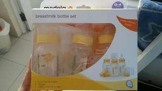 BNIB Medela Breastmilk bottle set 150ml