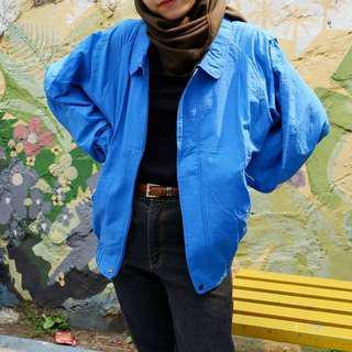 Blue neon jacket