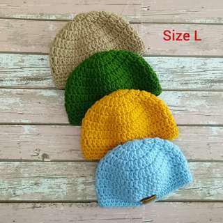 Peci Anak Bayi Rajutan Handmade Size L