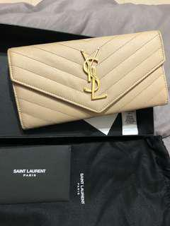 Authentic YSL Long Wallet (With free gift)