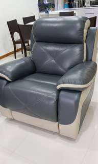 Motorised Reclining Leather Amchair