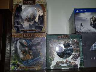 Polystone statues from the Hobbit Set of 3