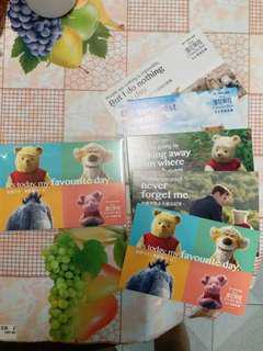 【限寄包郵】全新電影 維尼與我 精品明信片 一套