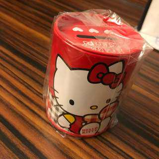🚚 Hello Kitty凱蒂貓 正版 鐵製小存錢筒